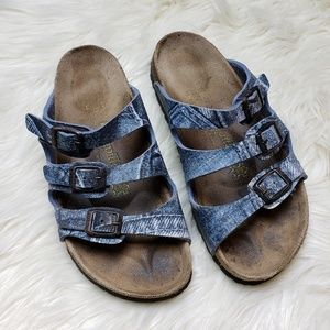 Papillio Denim Printed Florida Birkenstock Sandals